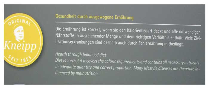 5-Säulen-Kneipps-Ernährung